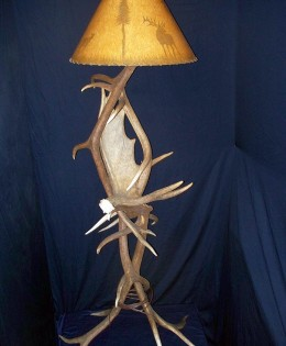 Elk and Moose Antler Floor Lamp