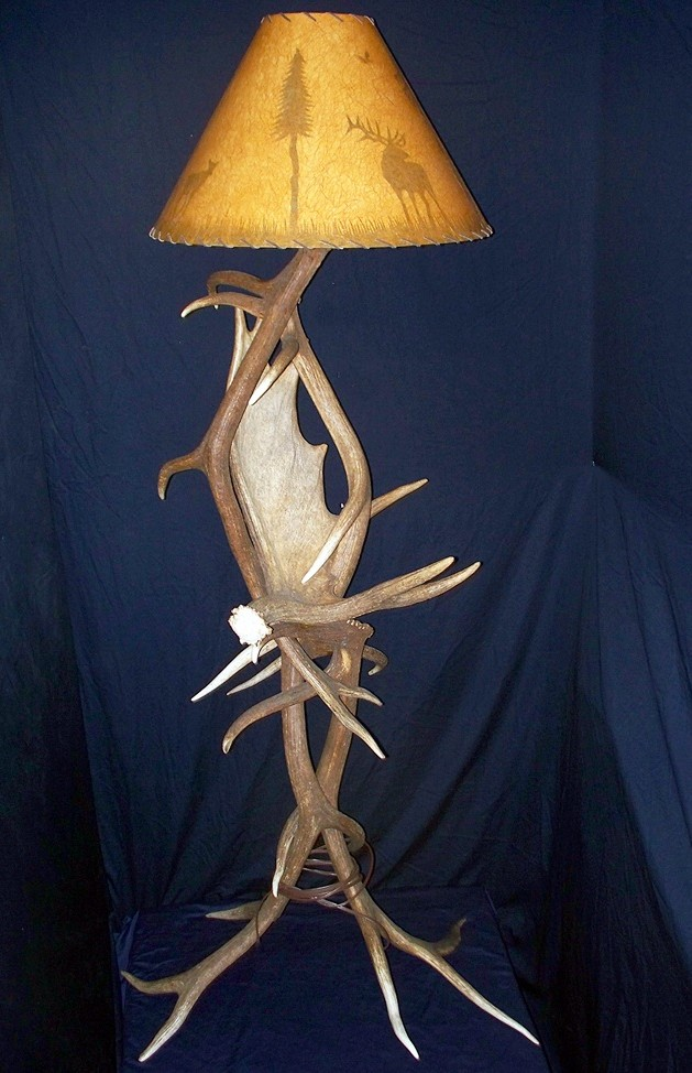 Elk and Moose Antler Floor Lamp