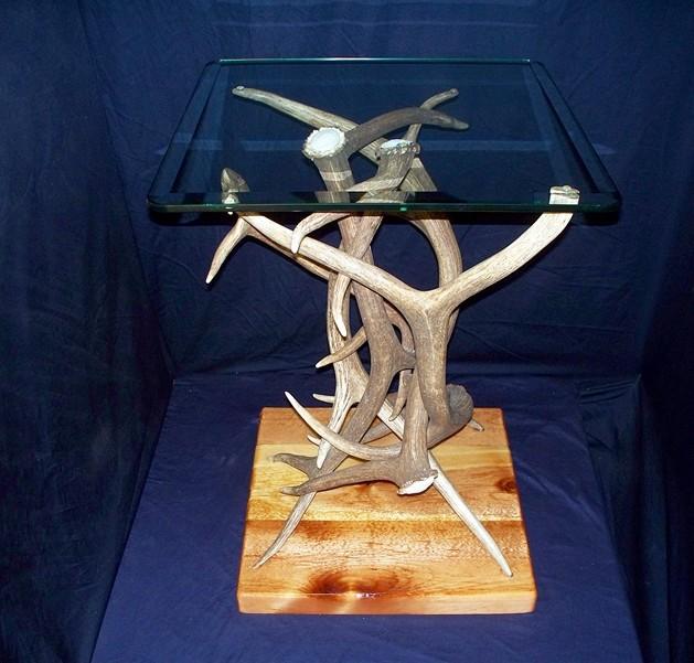 Elk Antler End Table