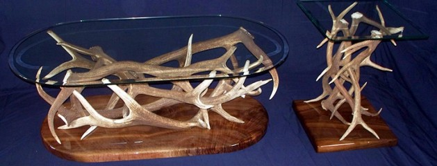 Elk Antler Coffee Table and End Table