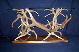 Elk Antler Sofa Table