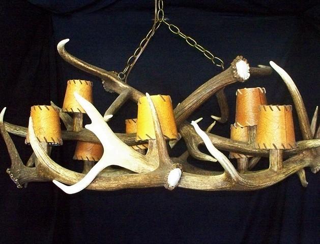 Low Ceiling Elk Anlter Chandelier