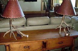 Small, 2-antler Mule Deer Table Lamps