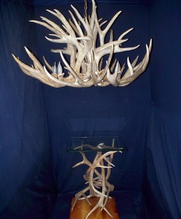 The King with an Elk Antler End Table