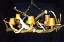 Low Ceiling Elk Anlter Chandelier