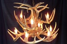 2-Tier Whitetail Chandelier